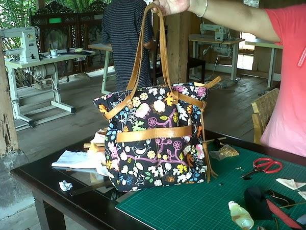 contoh tote bag karya peserta kursus tas di sbu