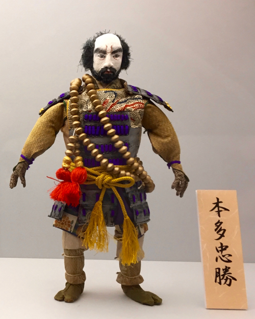 藤岡弘、さん演じる本多忠勝の糸締め人形
