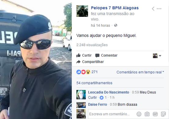 Em  Santana do Ipanema/AL, PELOPES do 7º Batalhão realiza campanha para  ajudar criança com doença grave