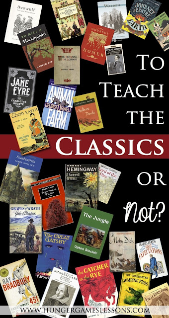 Do You Teach the Classics? {Read more on www.hungergameslessons.com}