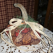LARGE FABRIC PUMPKIN