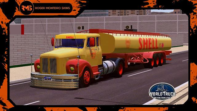 Scania, Scania 111s, Scania jacaré, Skins World Truck, Skins Wtds, Shell