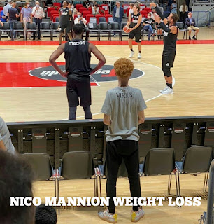Nico mannion weight loss.