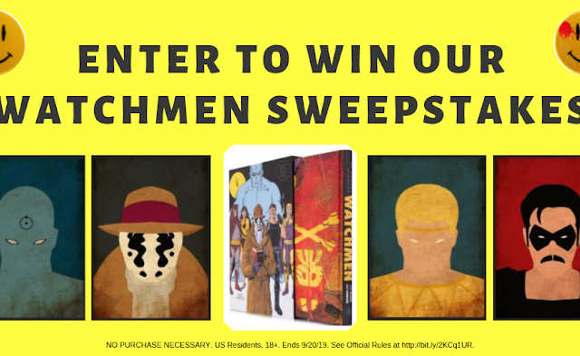 Penguin Random House's Library is giving away a DC Modern Classics Edition of Alan Moore's dystopian classic Watchmen, a poster set and more!