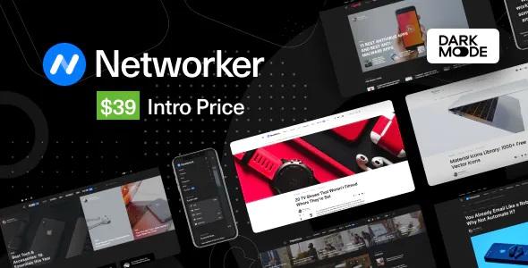Networker Best Tech News WordPress Theme with Dark Mode