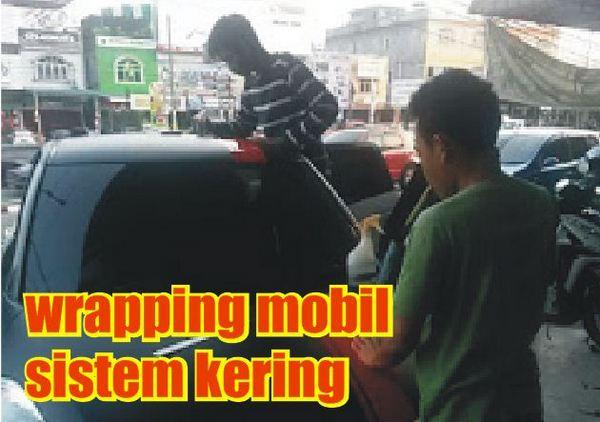 wrapping mobil sistem kering