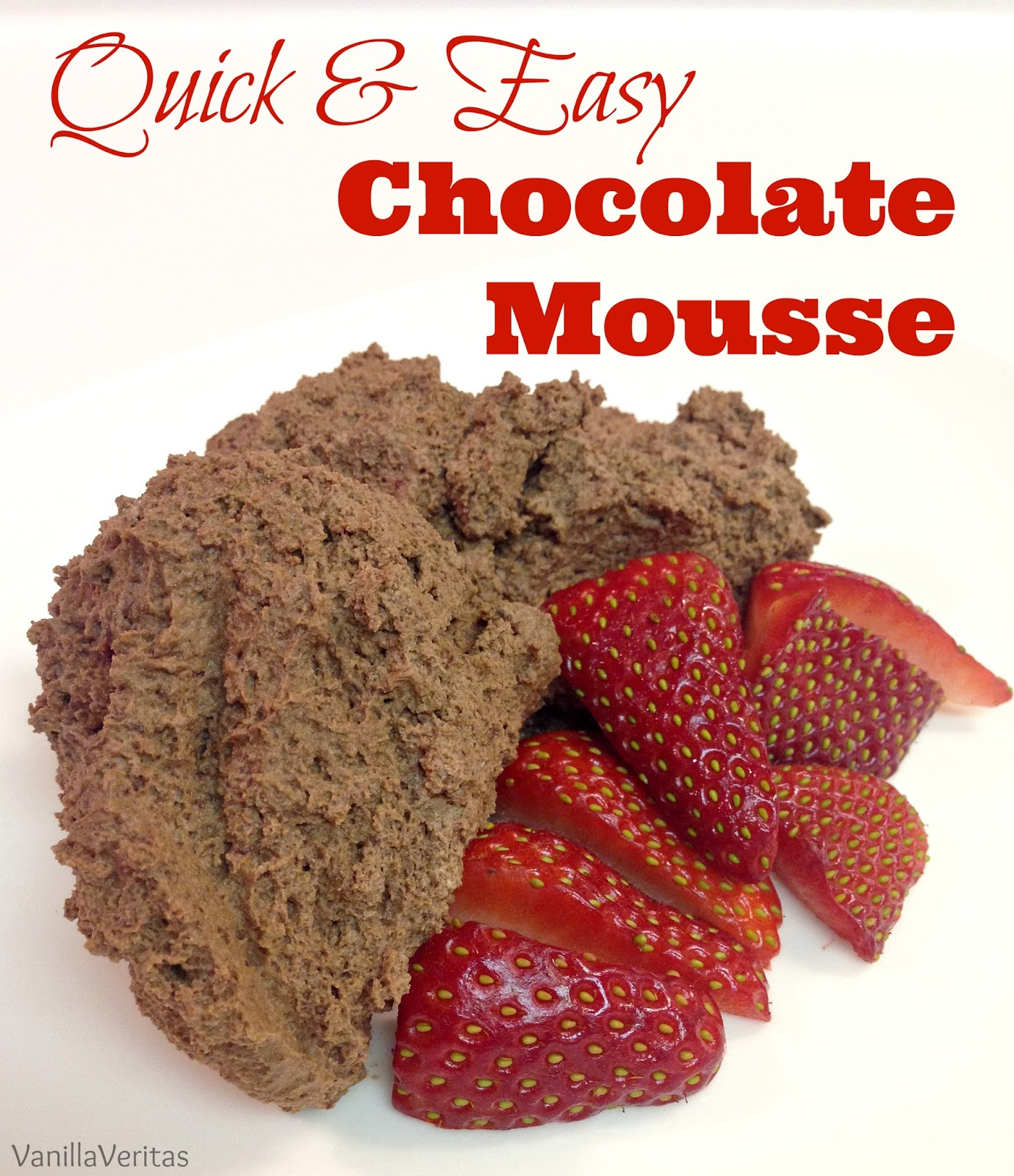 fast quick easy chocolate mousse dessert