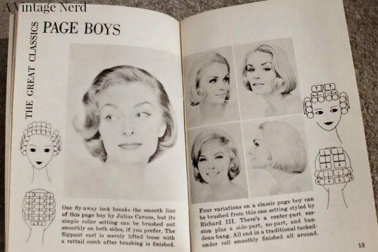 A Vintage Nerd, Vintage Blog, Retro Lifestyle Blog, Vintage Beauty Book, Dell Purse Book, Vintage Hairstyle Tutorials, How To Set Your Hair, 1960's Hairstyle Inspiration