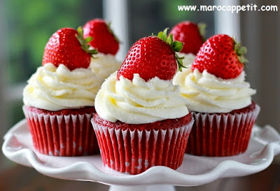 Cupcake aux fraise | Strawberry cupcake