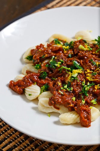 Braised Short Rib Ragu on Gnocchi
