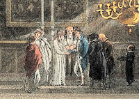 Detail from Merton College, Oxford: a marriage ceremony  in the chapel by J Bluck (1813) after AC Pugin Wellcome Collection used under Creative Commons Licence (CC BY 4.0)
