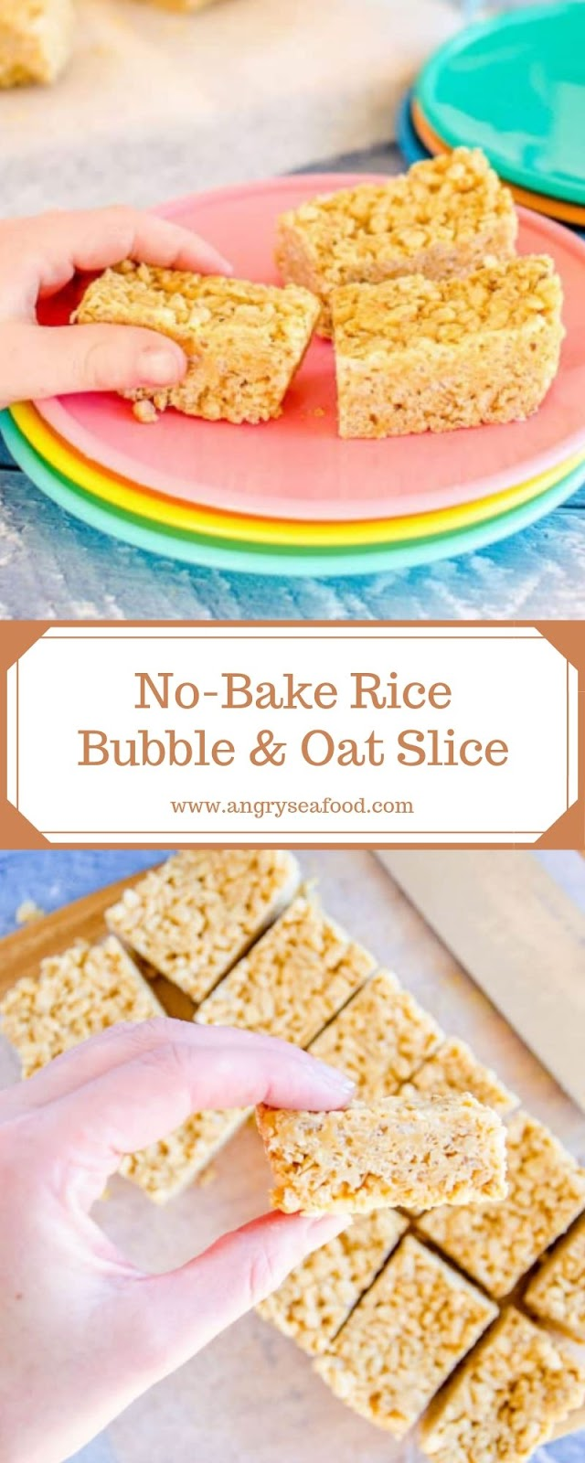 No-Bake Rice Bubble & Oat Slice