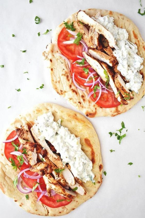Chicken Gyros Recipe With Tzatziki Sauce #recipes #lunchrecipes #food #foodporn #healthy #yummy #instafood #foodie #delicious #dinner #breakfast #dessert #lunch #vegan #cake #eatclean #homemade #diet #healthyfood #cleaneating #foodstagram