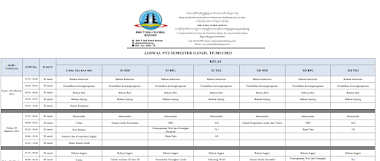 Jadwal PTS (Penilaian Tengah Semester) Ganjil 2021-2022