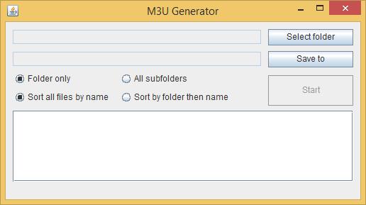 how to create a m3u playlist file