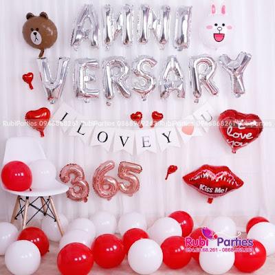 Set bong trang tri Anniversary BKN297