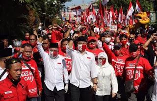 Lapor Pak Tito, Kader PDIP Surabaya Konvoi Tanpa Protokol Kesehatan? Apakah Dapat Sanksi?
