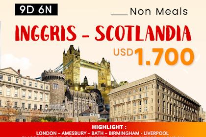 Paket Tour Inggris - Scotlandia Full Meals