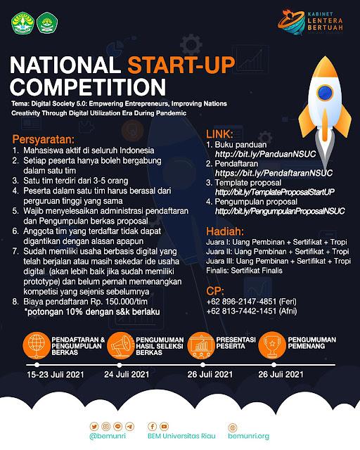 PENDAFTARAN NATIONAL START-UP COMPETITION