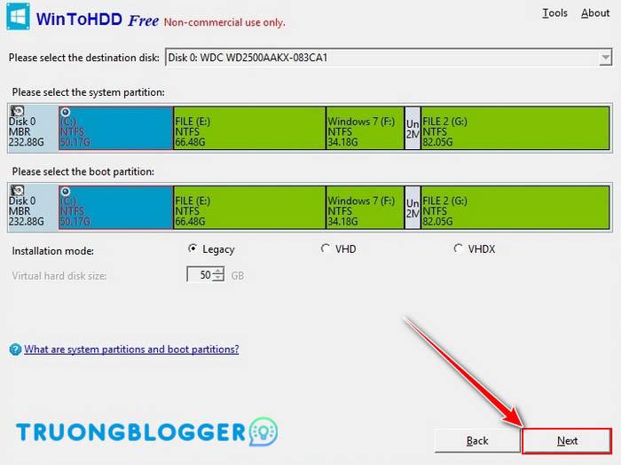 Hướng dẫn sử dụng WinToHDD để cài mới lại Windows mà không cần sử dụng USB hay DVD
