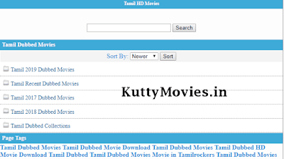 Kuttymovies.in- Download 2020 HD Tamil Movies Kuttymovies in