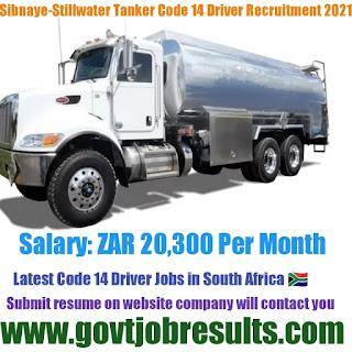 Sibnaye-Stillwater Tanker Code 14 Driver Recruitment 2021-22