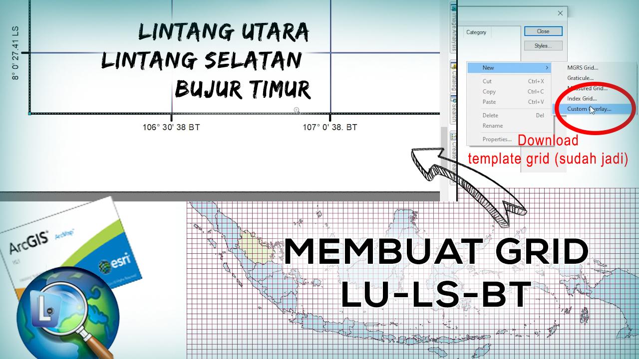 Cara Membuat Grid LU-LS atau BT pada ArcGIS