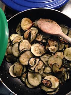 Frittata di Zuchini (Tortilla de calabacín), preparación 2