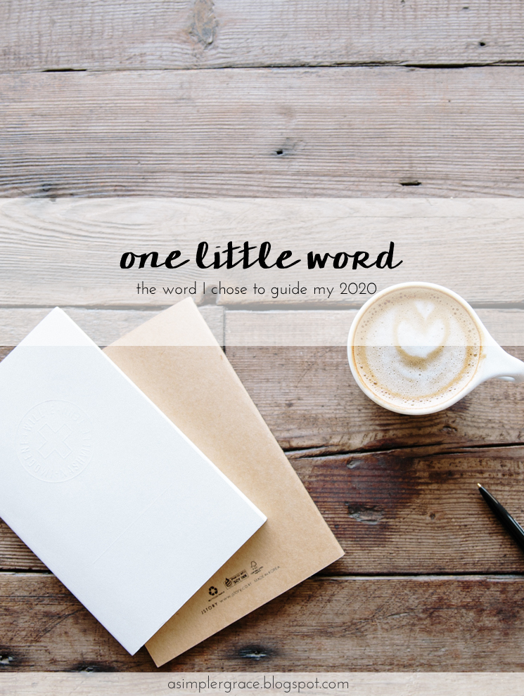 Today I'm sharing the word I've chosen to be my beacon for the coming year. #onelittleword
