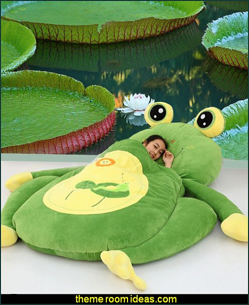 Frog Single Bed Sleeping Bag Pad Sofa Bed Mattress frog pond wall mural