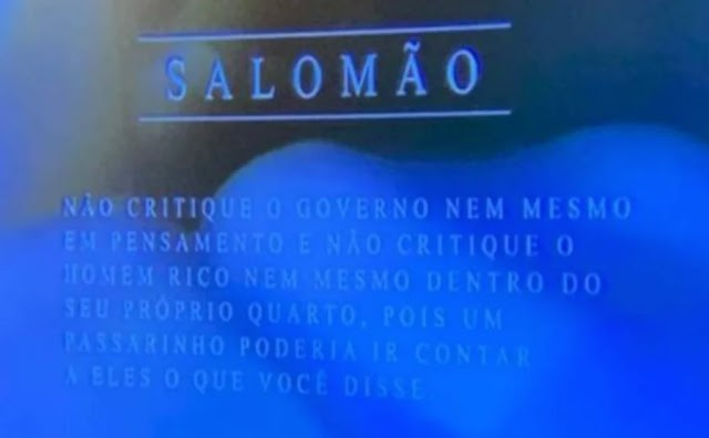 SBT exibe trecho da Bíblia que diz para não criticar o governo