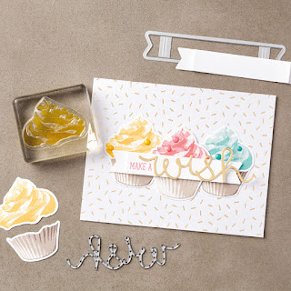 Stampin' Up! Sweet Cupcake Belated Birthday Card #stampinup