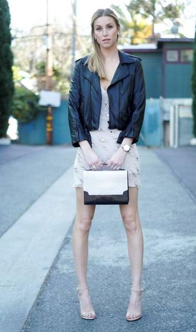 Whitney Port with Ana Mari Ortega handbag