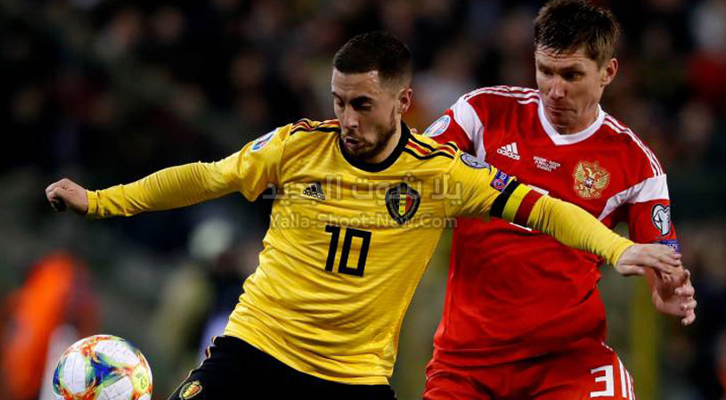 بلجيكا تضرب روسيا باربع اهداف لهدف في الجولة التاسعه من التصفيات المؤهلة ليورو 2020