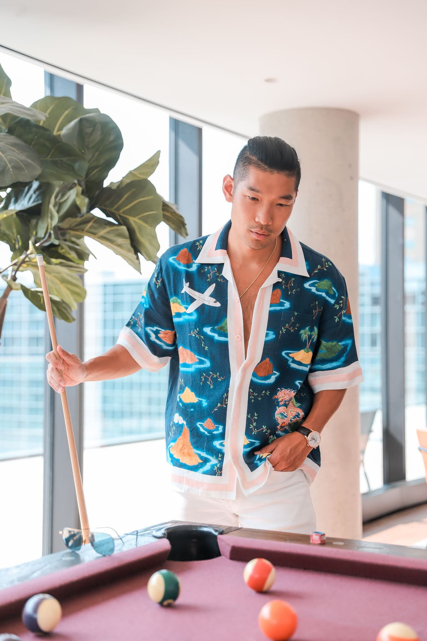 How to Style a Busy Patterned Shirt | Casablanca | Men's Summer Fashion
