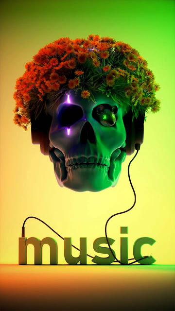 22 Skull Technology, Neon Art Skull, Magic Neon Skull Wallpapers HD 4K for iPhone and Android