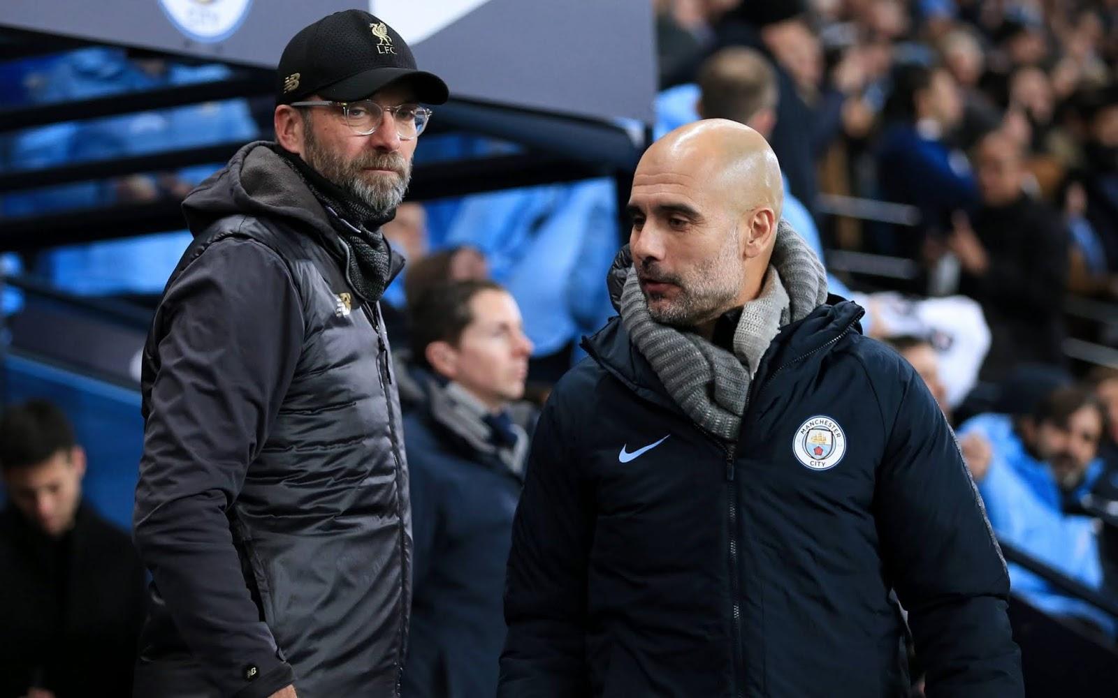 Master tacticians Jurgen Klopp and Pep Guardiola