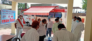 जिला न्यायालय में रक्तदान षिविर मे बडी संख्या में रक्तदाताओं ने स्वैच्छिक रक्तदान किया