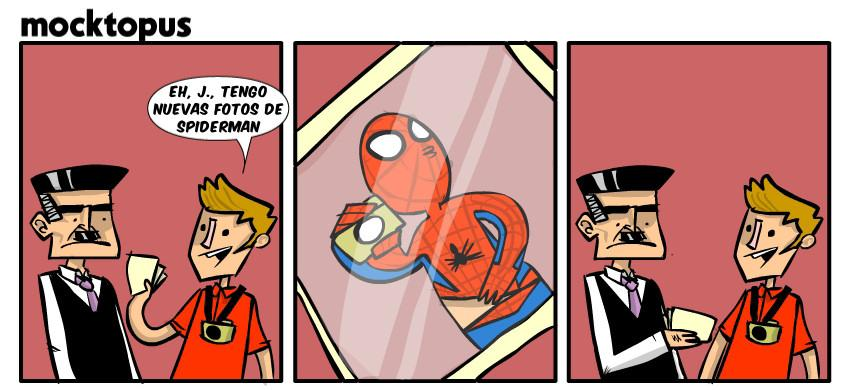 spiderman y sus fotos
