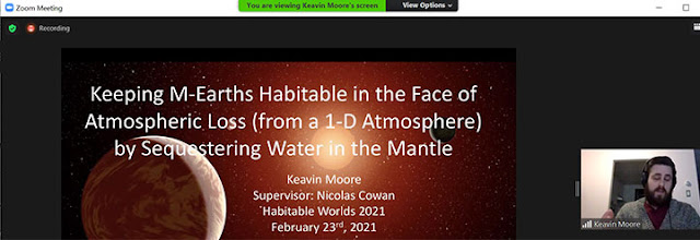 Will planets around M-dwarf stars be desiccated? (Source: Keavin Moore, Habitable Worlds 2021)