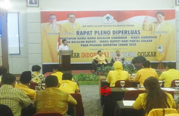 DPD Partai Golkar Kalteng Menggelar Rapat Pleno Diperluas