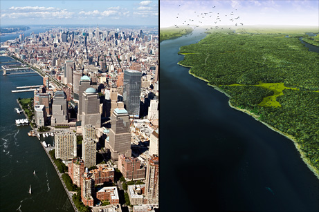 ... of modern Manhattan, whose coast is considerably extended since 1609  Manhattan