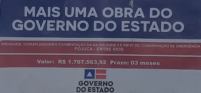 Governo da ordem de recuperação de trecho que liga Pojuca e Entre Rios