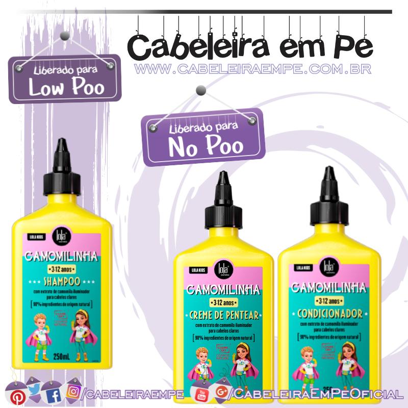 Shampoo (liberado para Low Poo), Condicionador e Creme para Pentear (liberados para No Poo) Lisinho - Lola Kids