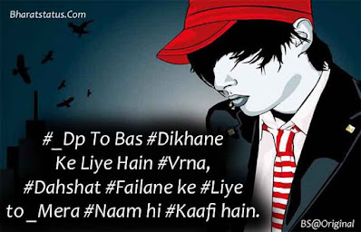New Badmashi khatarnak attitude status in hindi