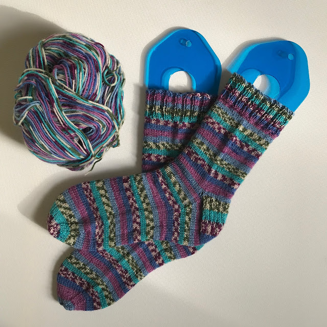 Knitted socks in King Cole Zig Zag 4-ply