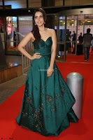 Raashi Khanna in Dark Green Sleeveless Strapless Deep neck Gown at 64th Jio Filmfare Awards South ~  Exclusive 082.JPG