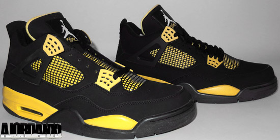 Online Nike Air Jordan 4 2013 Retro Thunder Black Tour Yellow 30