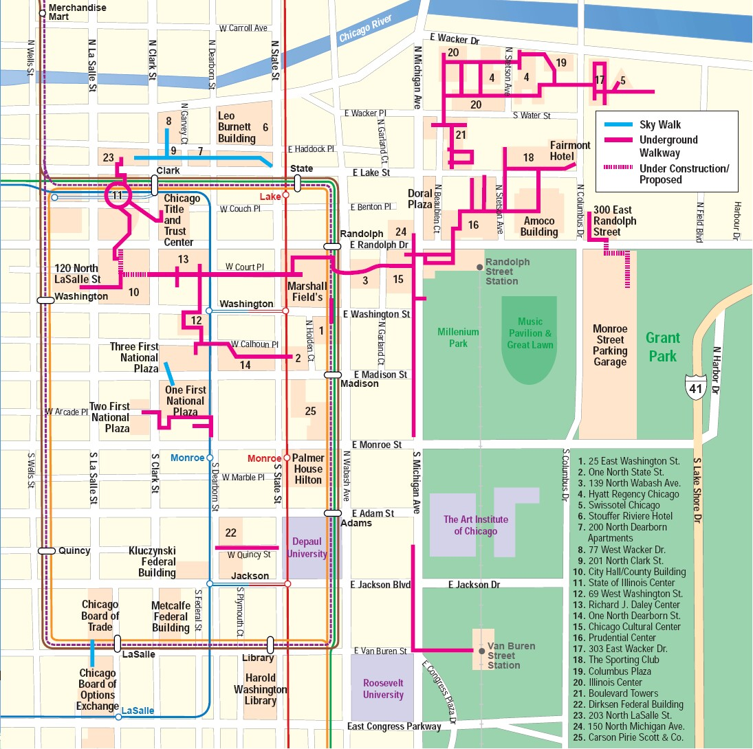 The Digital Research Library Of Illinois History Journal The - Chicago underground map