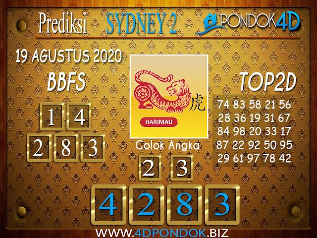 Prediksi Togel SYDNEY 2 PONDOK4D 19 AGUSTUS 2020